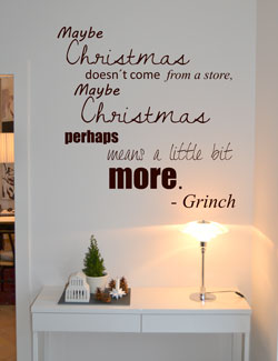Julehygge til hele huset - Christmas is more... - Wallsticker