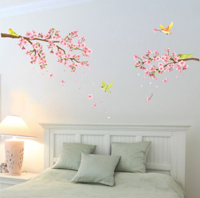 Wallstickers - Blomster Wallstickers