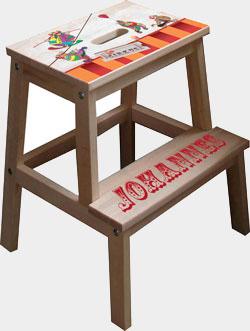 Børneskammel → køb nu: taburet med dit barns navn - mange forskellige motiver