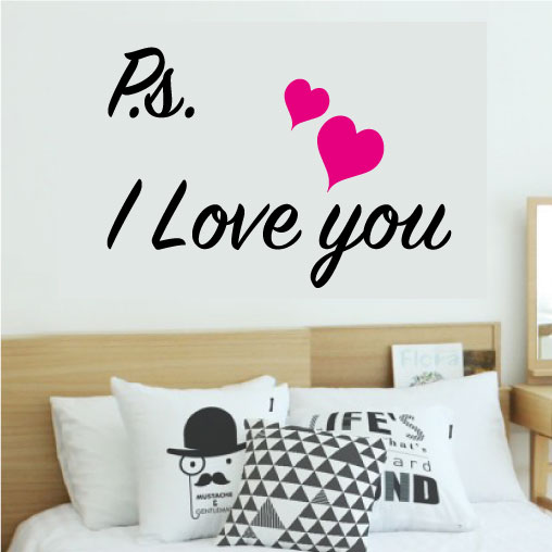 Diverse Wallstickers - Ps. i love you