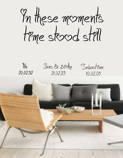 Diverse Wallstickers - In these moments - hjerte