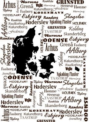 Kob Nu Plakat Med Danmarkskort