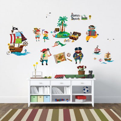 Børne Wallstickers - Pirat Wallsticker