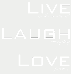 Wallstickers tekst, citater og ordsprog - Wallstickers-Live-Laugh-Love